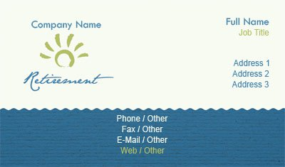 Senior Living Business Card Template